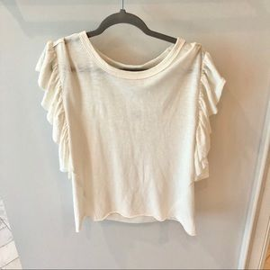 Splendid Ruffle Top - sz Medium
